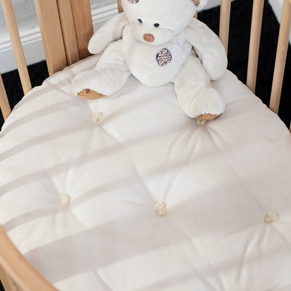 STOKKE Sleepi Bed Mini Junior Wool Mattress 4 thick Cover - Cotton, Linen, or Lambswool; Filling - Pure New Wool
