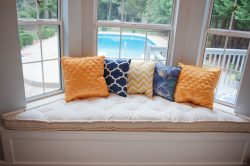 Trapezoid window seat cushion