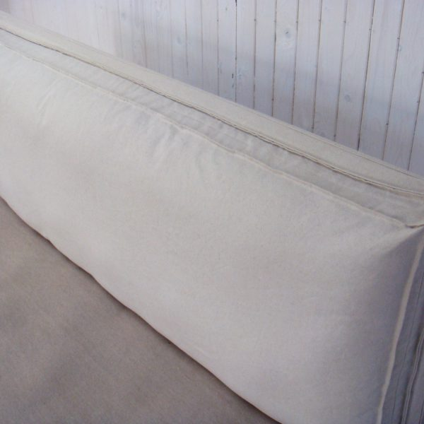 Non-Tufted Wool-Filled Headboard Cushion