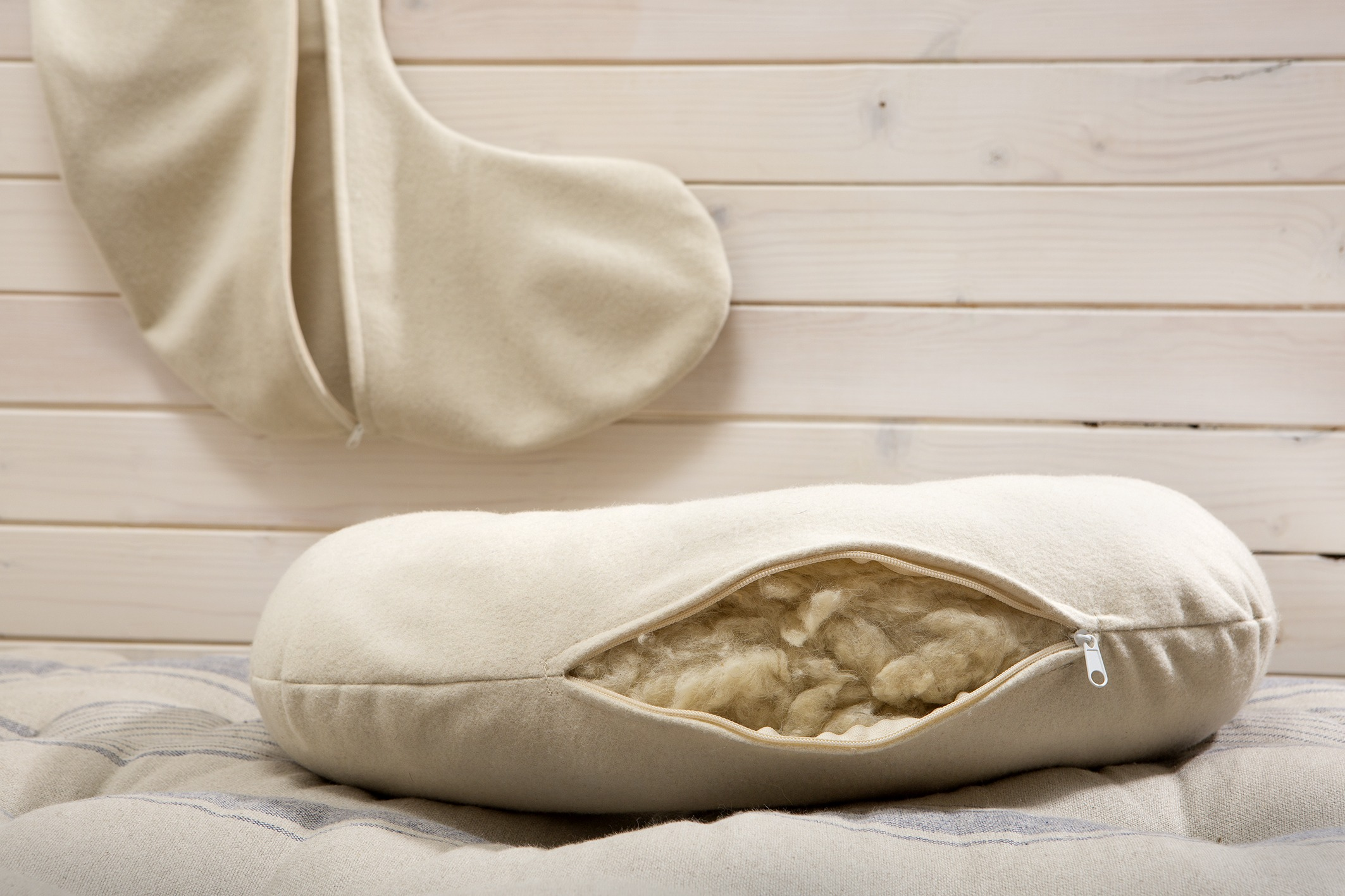 All Wool Nursing Pillow And Zippered Machine Washable