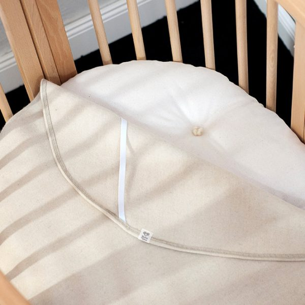 STOKKE-size Wool Piddle Pad Protector Moisture Barrier Cover for Stokke Sleepi Mini, Bed, or Junior mattress 1