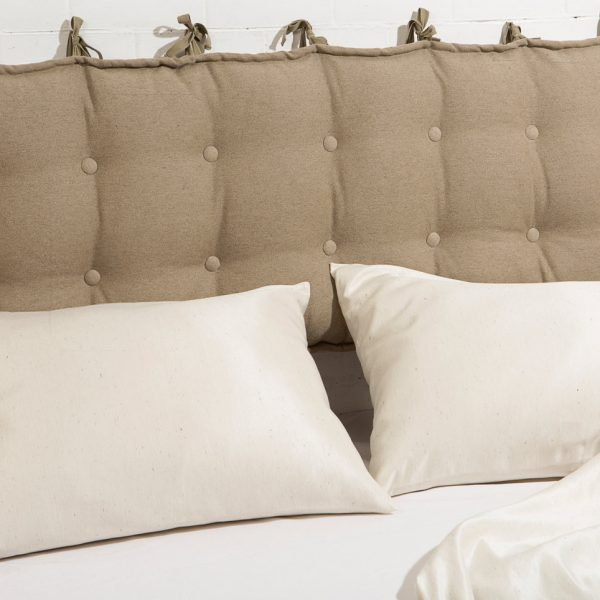 Headboard cushion in 100% linen
