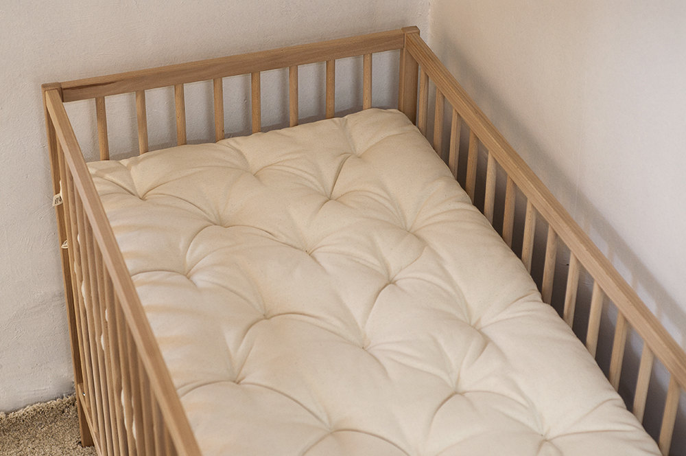 Baby Crib Or Cot Non Toxic Wool Filled Topper Home Of Wool