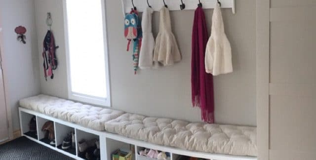 tufted bench cushion for Jessica Liefl