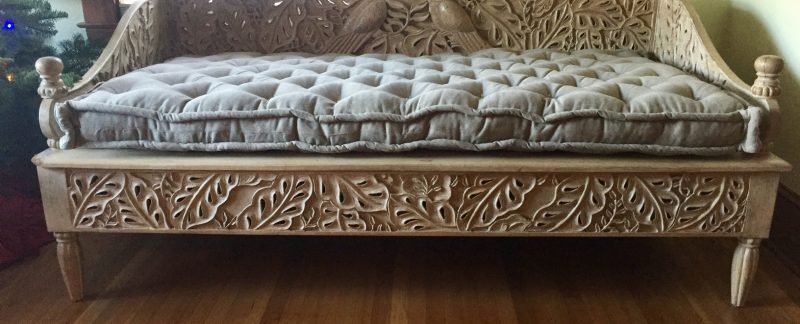 Customer image custom bench cushion for Eleni