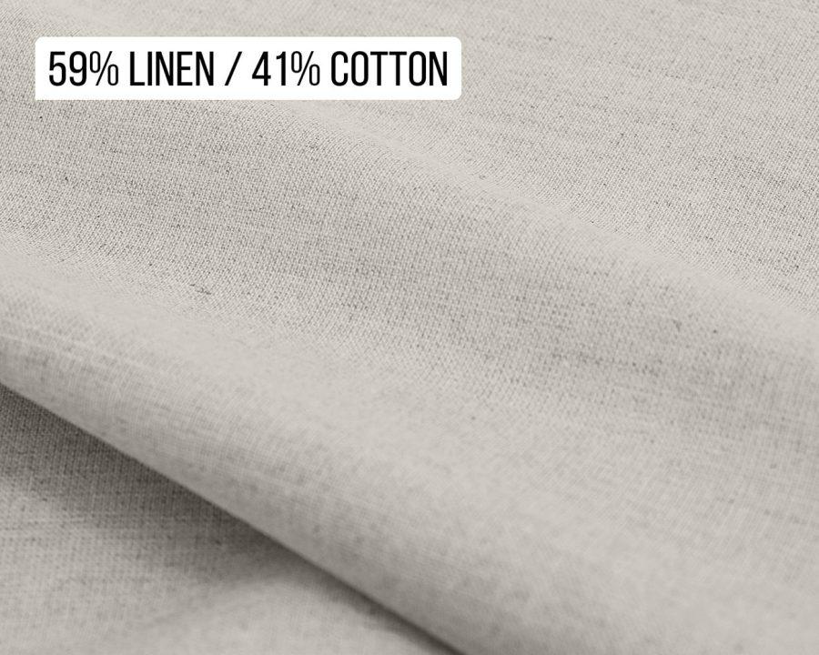 59% Linen 41% cotton blend fabric