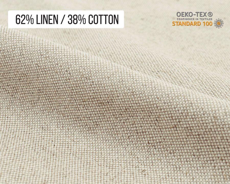 Home of Wool 62% Linen 38% Cotton blend burlap-like fabric
