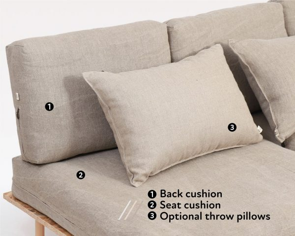 Home of Wool Couch Cushions with Removable Covers - back and seat cushions
