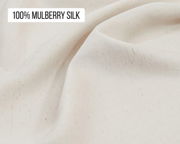 Natural mulberry silk fabric by the yard or meter