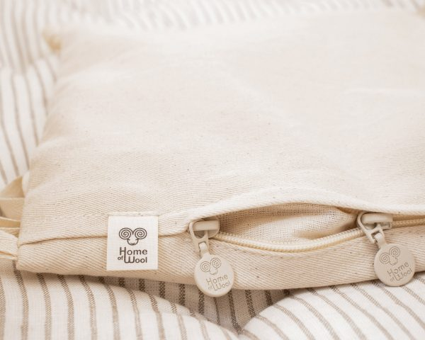 Home of Wool Natural Non-toxic Wool-Filled Baby Crib Bumper - detail