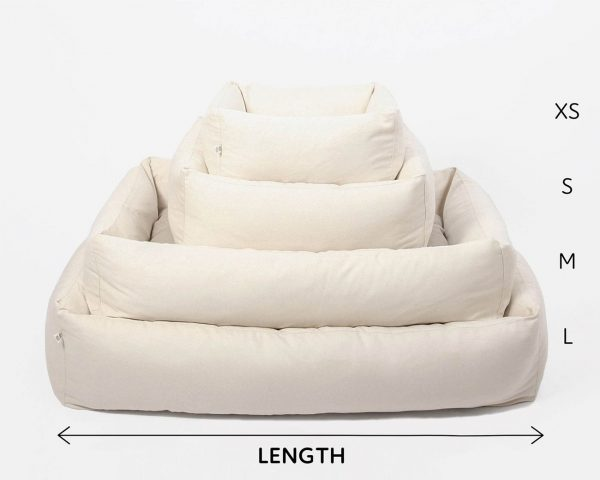 Home of Wool Natural Pet bed with boards - sizes comparison