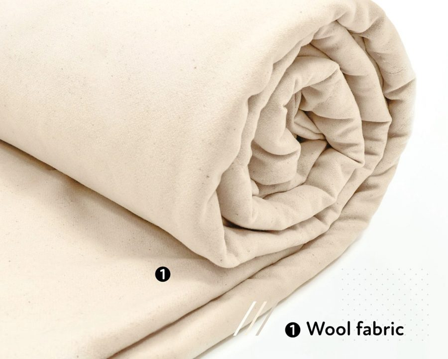 wool duvet insert with wool fabric cover