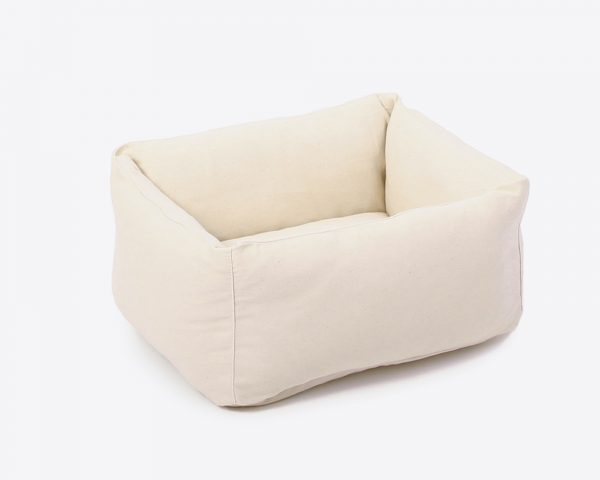 Home of Wool Natural Wool-Filled Ped Bed with Board XS
