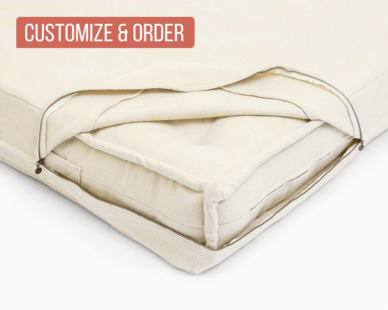 Zip Off Mattresses Cushions Cover
