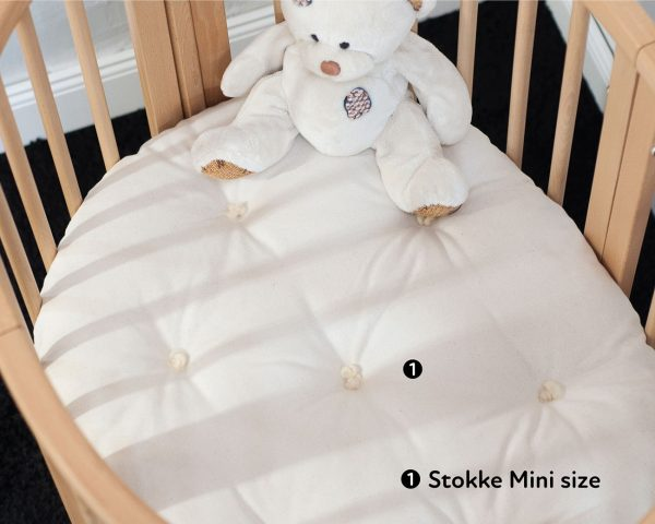 Home of Wool STOKKE Sleepi Bed Mini Junior Wool Mattress All Natural