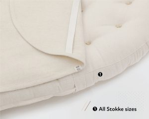 Home of Wool STOKKE-size Wool Piddle Pad Protector Moisture Barrier Cover Closeup