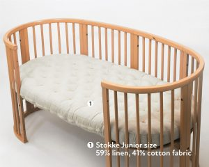 Home of Wool Stokke sized all-natural wool mattress
