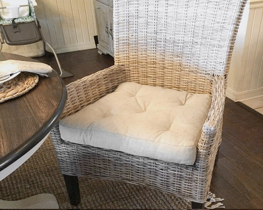Home of Wool Tufted Wool-Filled Chair Cushion - client