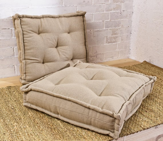 Home of Wool Tufted Wool-Filled Chair Cushions