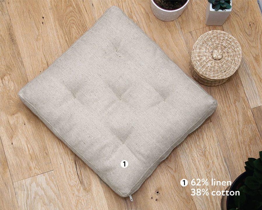 Home of Wool Wool-Filled Tufted Cushion Floor Cushion Square Chair Cushion 4