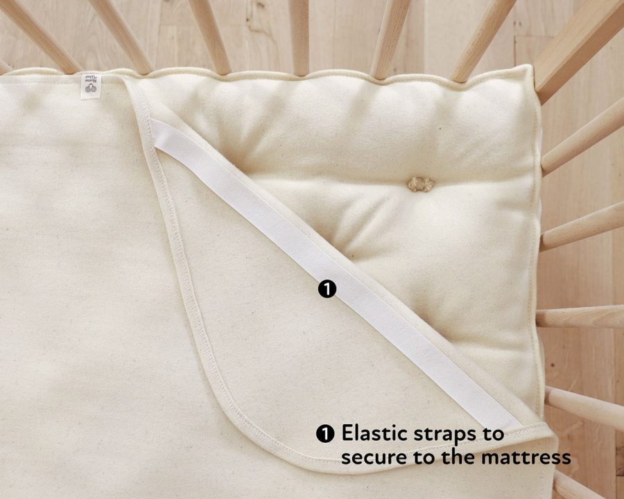 Home of Wool Wool Puddle Pad Protector Moisture Barrier Cover for changing table, crib, cradle or bassinet mattress closeup