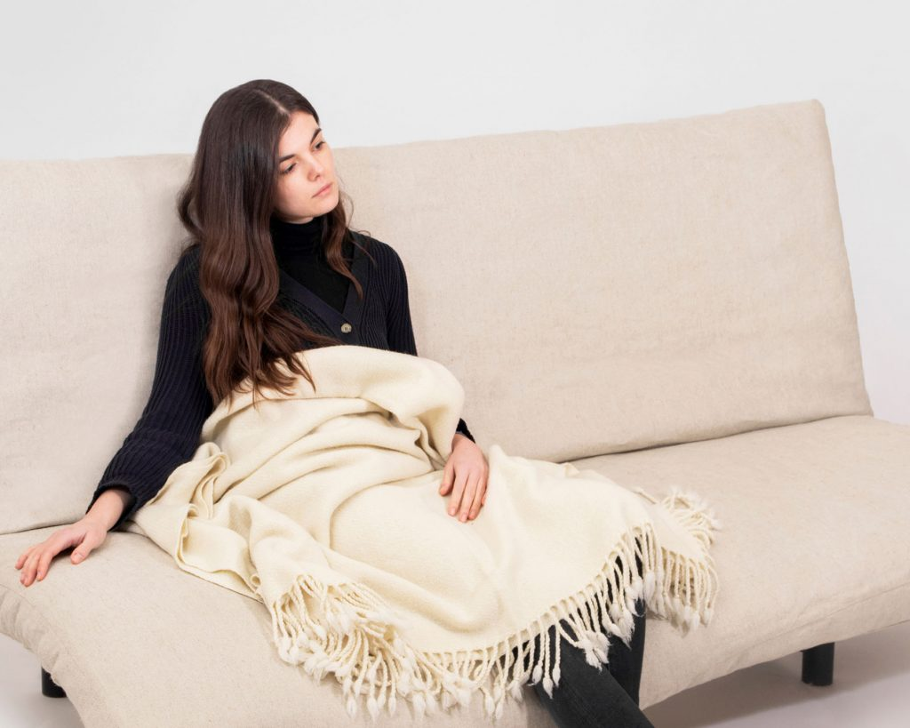 Home of Wool futon mattress with natural wool filling with model