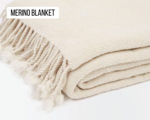 Home of Wool merino wool blanket