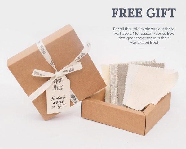 Home of Wool montessori fabrics box for montessori bed