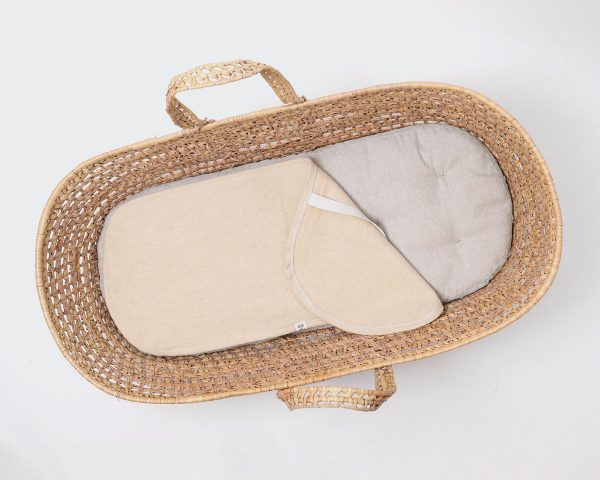 Home of Wool natural moses basket mattress with wool protector (1)