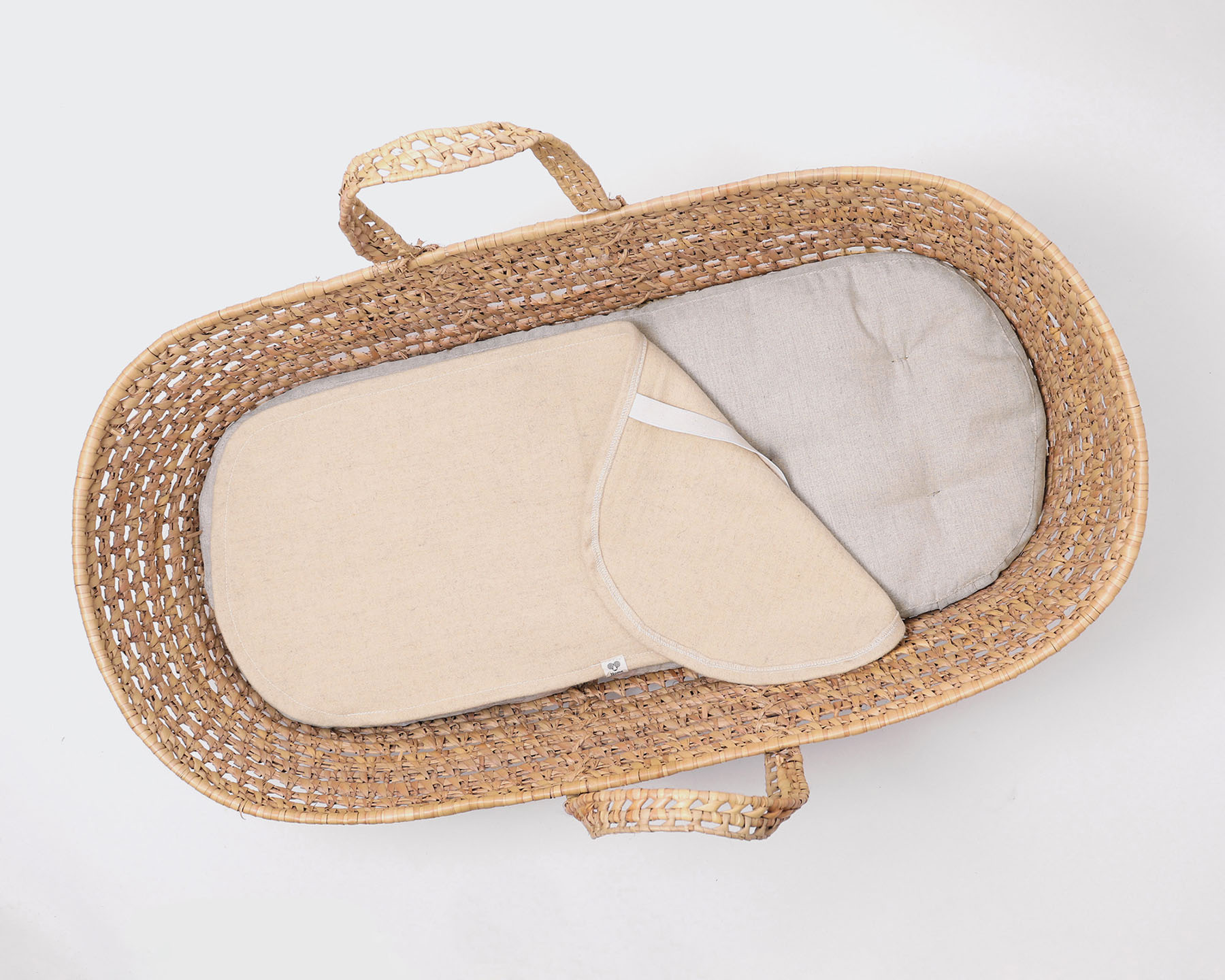 Wool Moses Basket Mattress / Optional Puddle Pad, Fitted ...