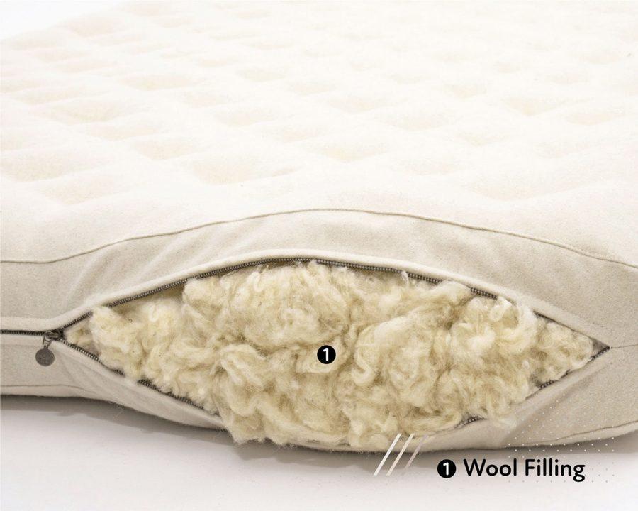 Natural Wool-Filled-Shikibuton