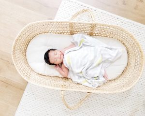 Home of Wool natural wool moses bassinet basket mattress (1)