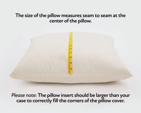 Home of Wool pillow measurements