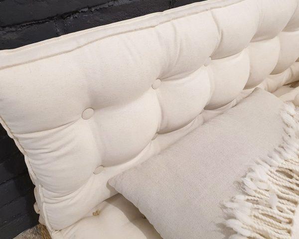 Home of wool Handmade Tufted Wool-Filled Headboard Cushion-2