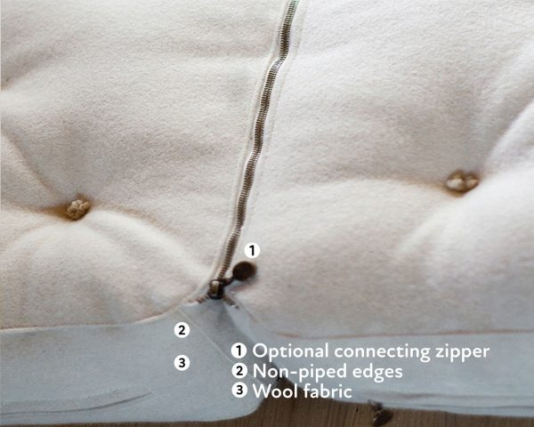 all wool mattress side by side king size with zipper