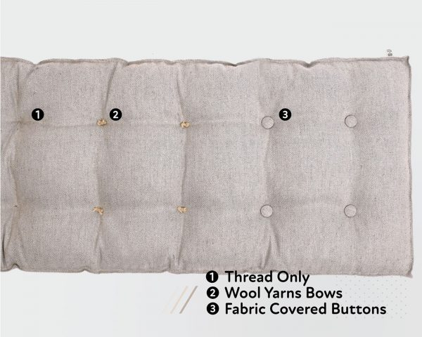 Home of Wool headboard button - options