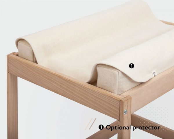 Home of Wool changing table with additional protector