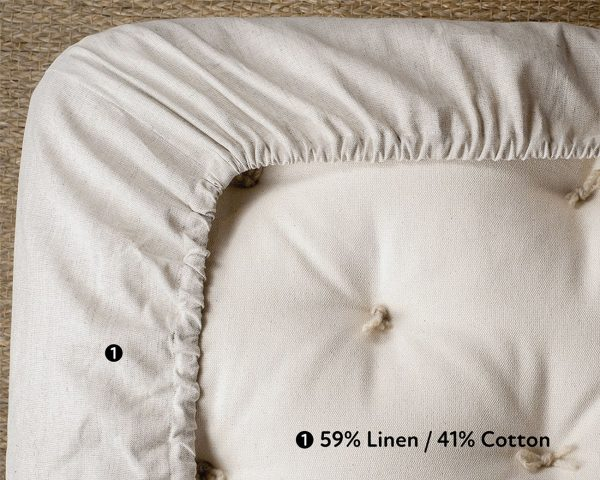 natural fitted sheet - elastic detail