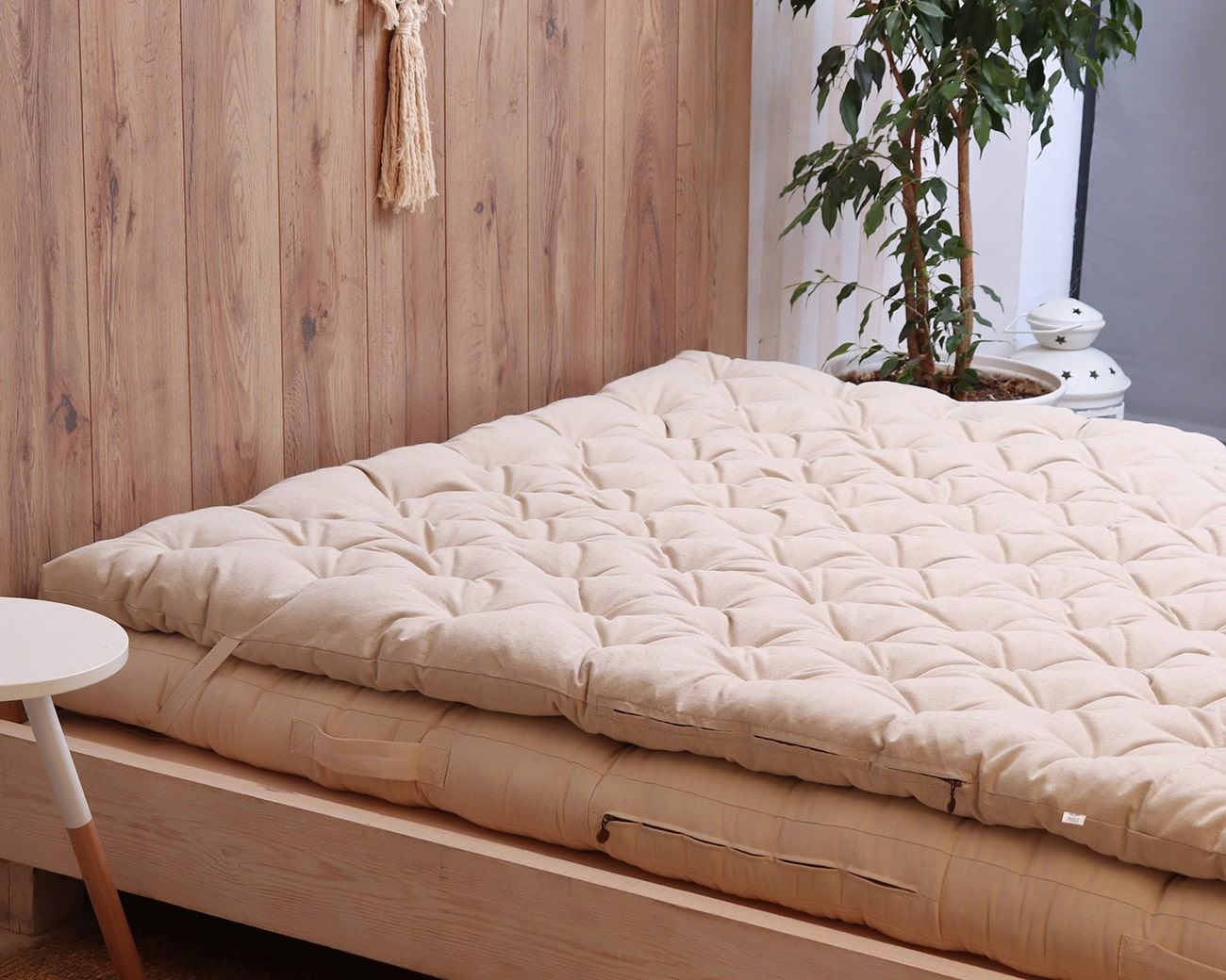 Wool Mattress Topper With Stitched Fabric Home Of Wool All Natural Handmade Mattresses