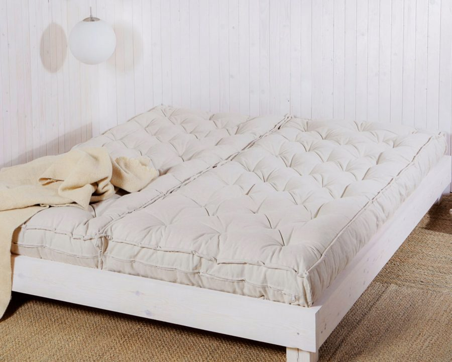home of wool wool-filled mattress in 2 pieces