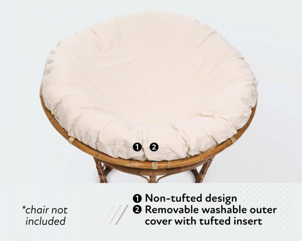 Home of Wool papasan chair cushion with removable cover