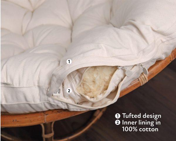 home of wool natural papasan chair cushion