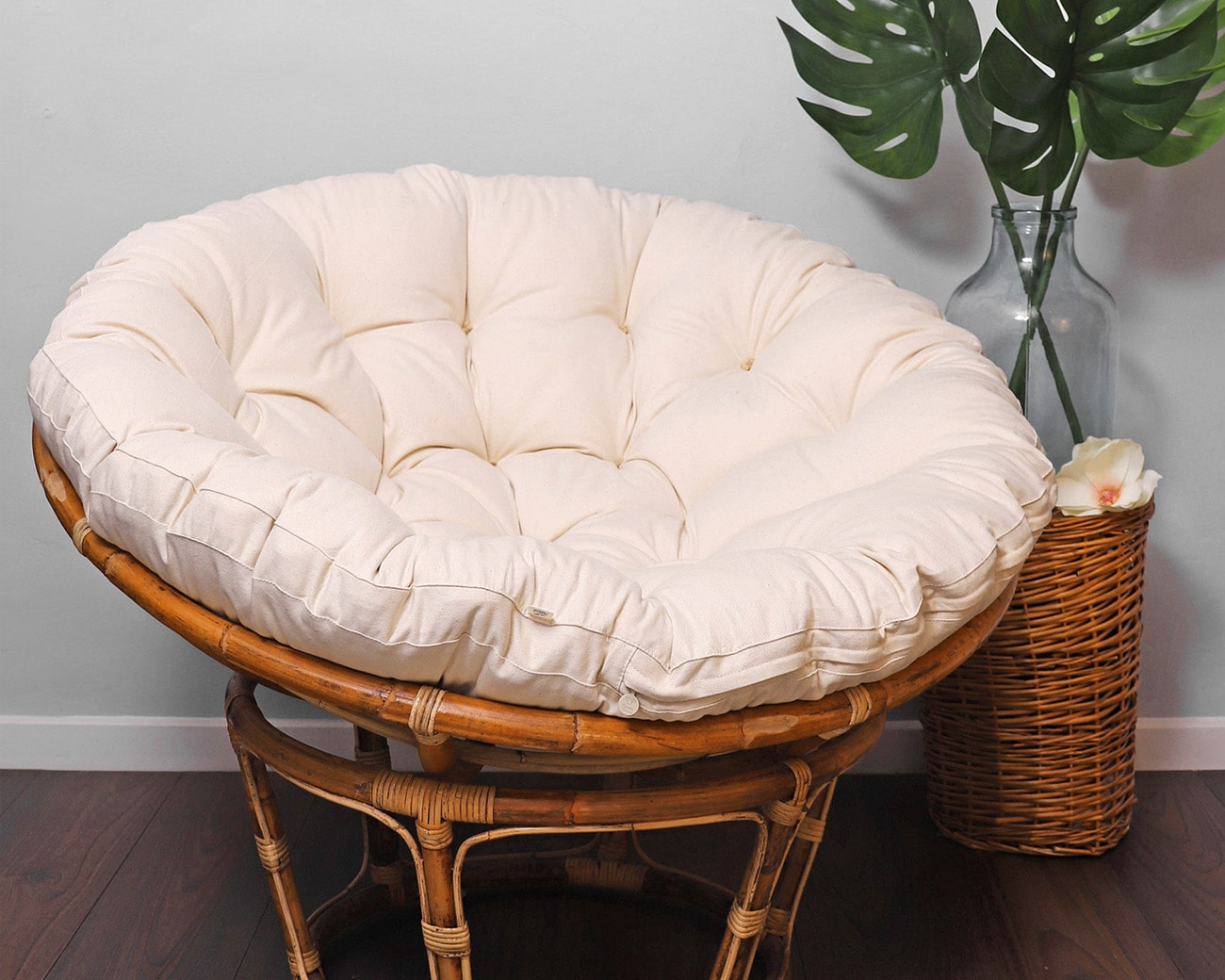 home of wool wool-filled papasan chair cushion