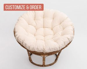home of wool natural papasan chair cushion