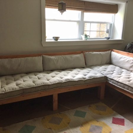 Afi's-custom-home of wool bench-cushions review