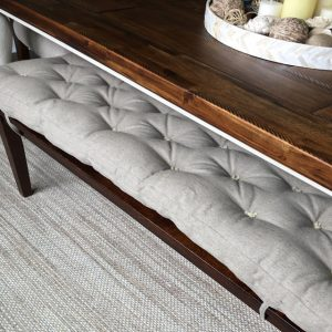 Home of Wool Tufted-Bench-Cushion-Custom-for-Ashley-Neronski