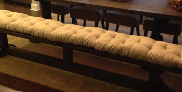 Home of Wool Tufted-Kitchen-Bench-Cushion-for-Michael