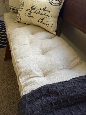 Home of Wool Tufted Wool-Filled Bench Cushion – Custom for Debbie Larsen
