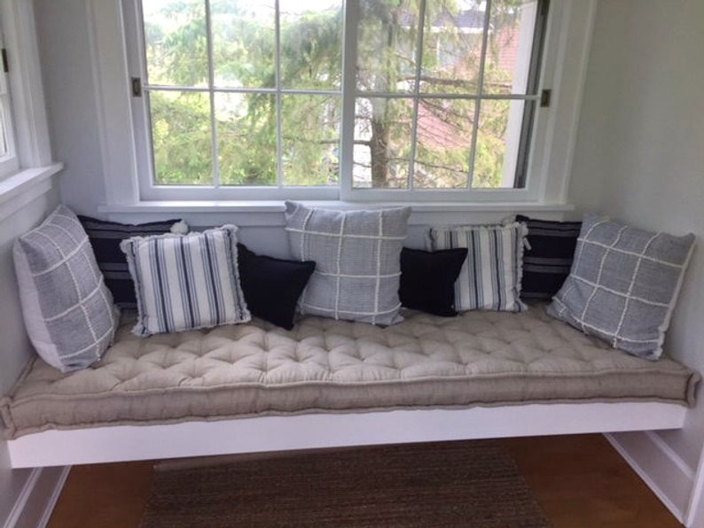 Home of Wool all natural tufted wool-filled daybed cushion - custom