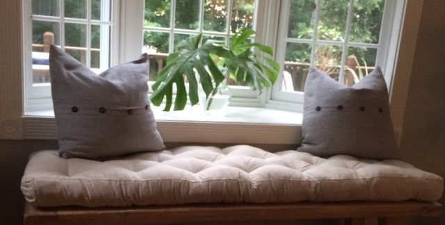 Home of Wool wool-filled-Tufted-Bench-Cushion-custom-for-KAte